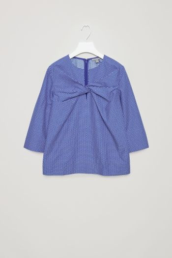 COS image 2 of Top with knot detail in Navy