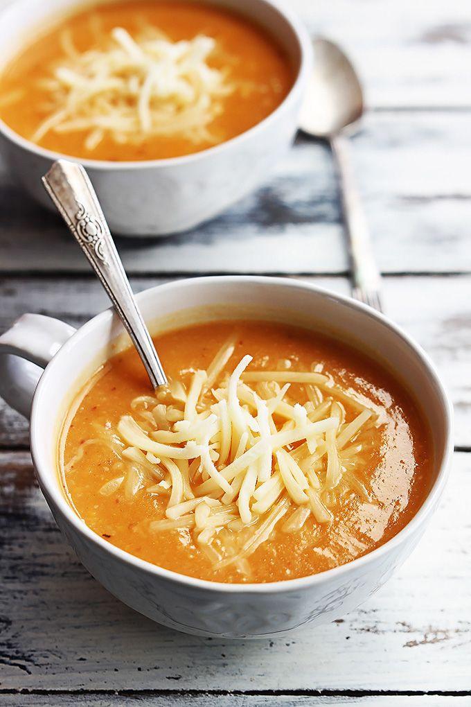 Chipotle Cheddar Cauliflower Soup   Recipe   Soups, Cauliflower soup ...