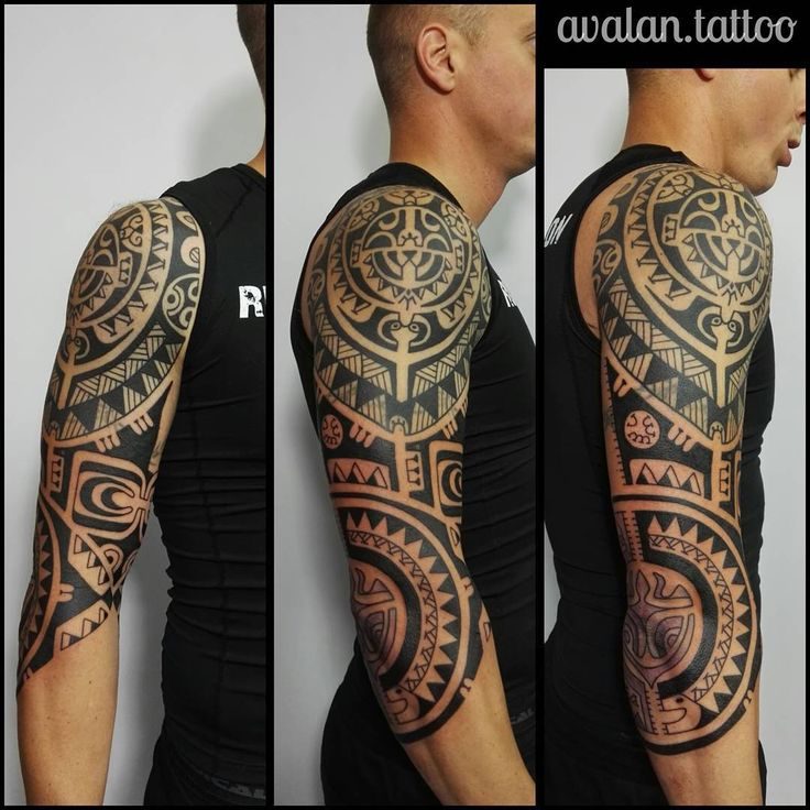 #inprogress #polynesiantattoo #avalantattoo #agnieszkakulinska #avalan.tattoo #sleevetattoo