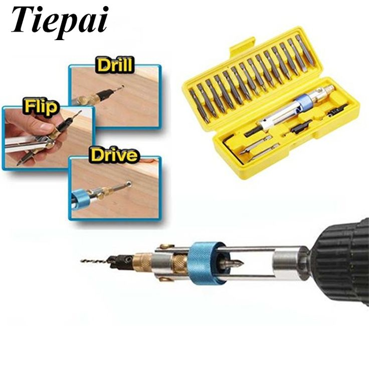 Check Price Tiepai Hot Sale Newest Drill 20 Bits High Speed Steel Double Use Hand Tools Set Screwdriver #Drill #Bit #Sizes