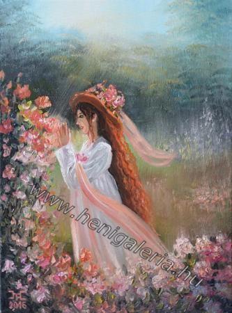 Festményeim: Liana olajfestmény,  oil painting