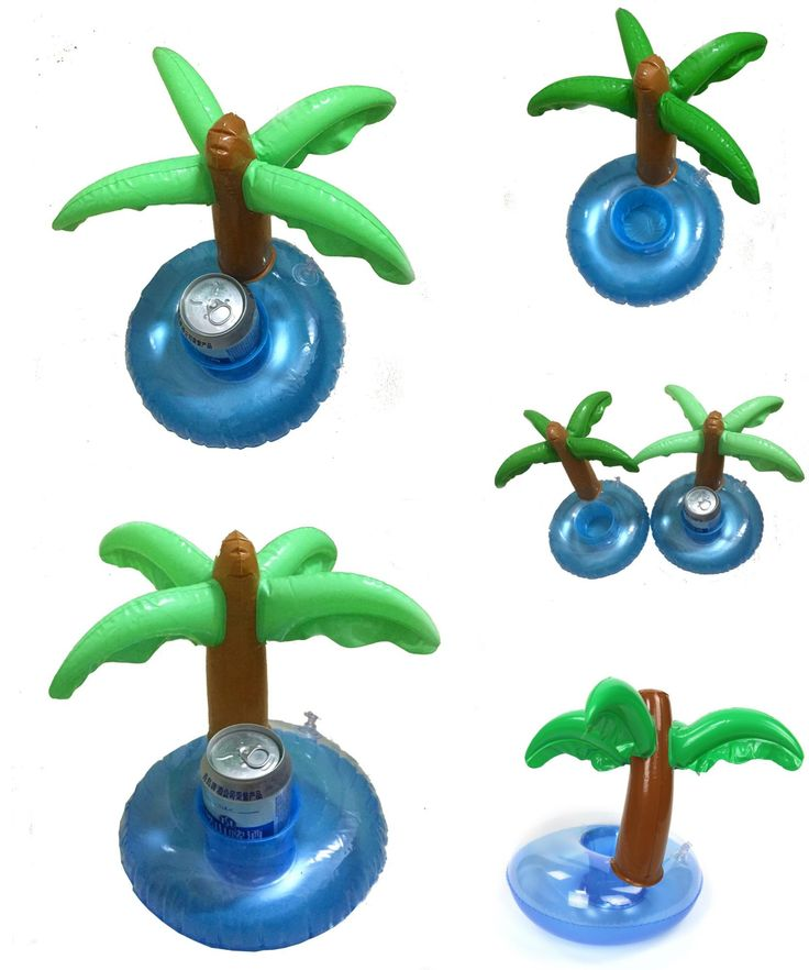 [Visit to Buy] New Inflatable Plam Tree Drink Pool Float Inflatable Plam Tree Coasters Cola Beverage Cup Holder Event Christmas Party Supplies  #Advertisement