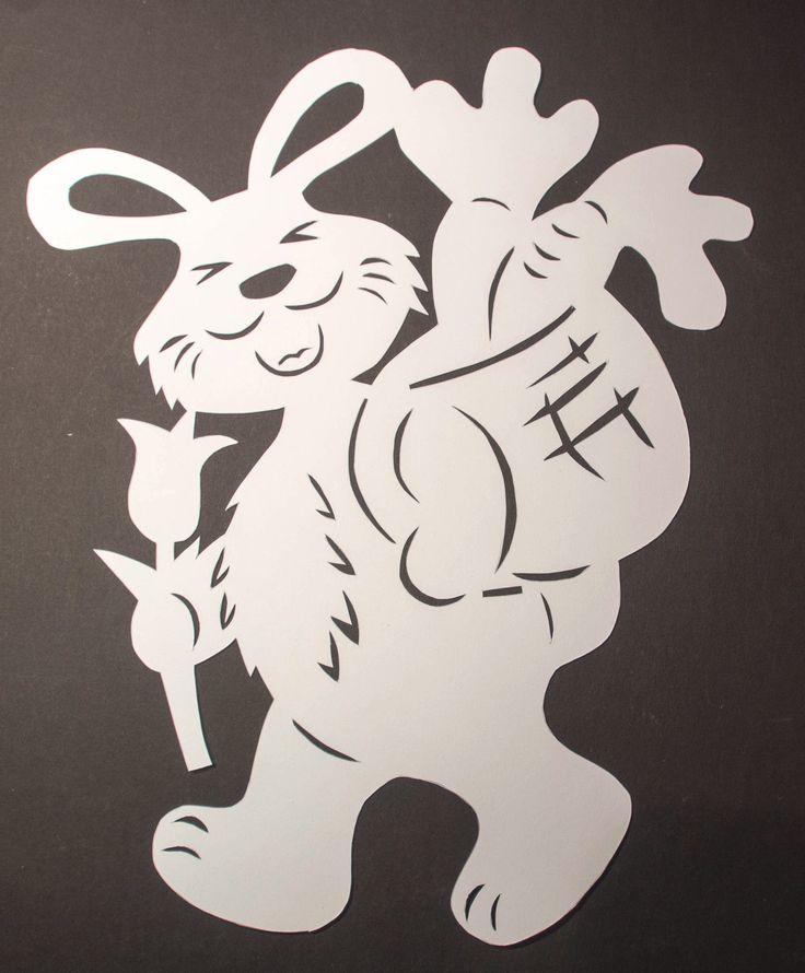 """FENSTERBILD filigran Tonkarton """" OSTERHASE """" – EUR 4,90. Sie bieten auf ein Fens…"""