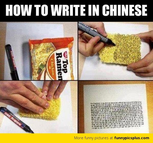 How to write Chinese?