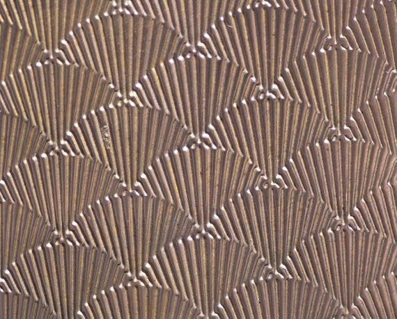 These Sheets Of Textured Metal Have Geometric Fan Or Wing Pattern Grade Of Metal 1st Grade Measurement 6 1 8 Brass Texture Hummingbird Wings Metal Sheet