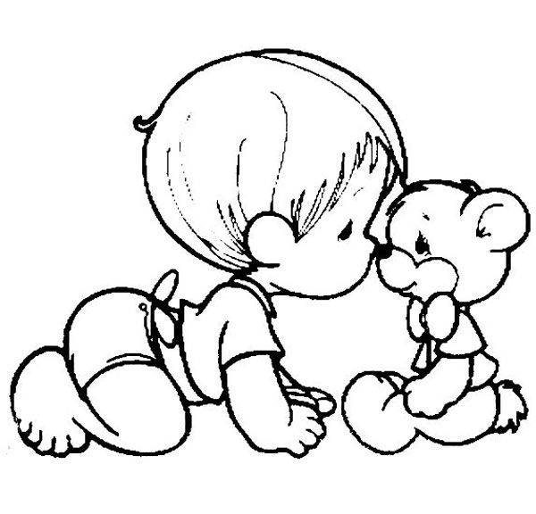 Baby Precious Moments Coloring Pages On Book