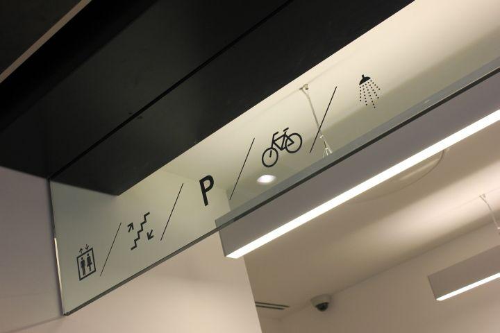 Exchange Station by Optelma Lighting & Hilson Moran & BDP, Liverpool UK office floor lamp ceiling light