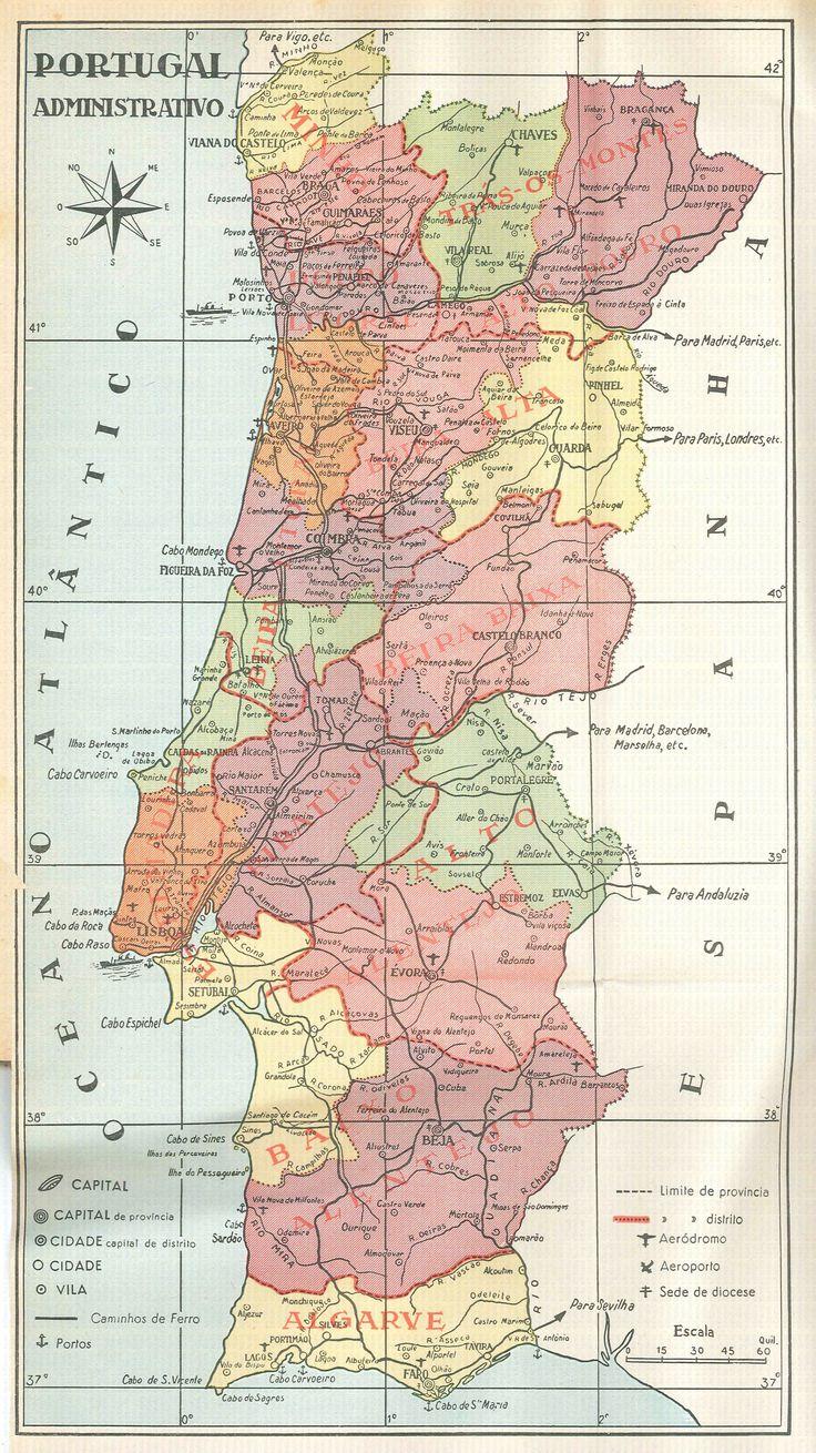 Portugal Map                                                                                                                                                                                 Mais