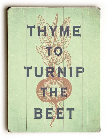 Wooden Sign, Thyme To Turnip The Beet, Kitchen Decor, Art On Wood – Happy Letter Shop