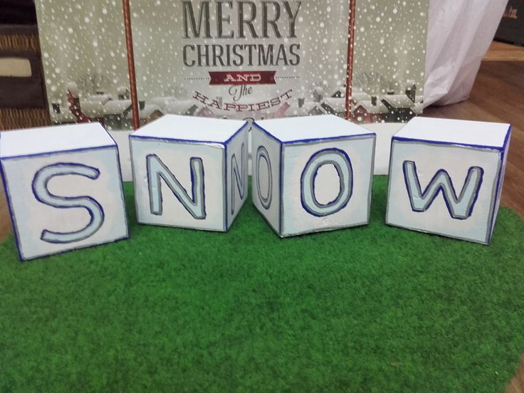 SNOW  sign made from wood. My husband did the woodwork, I painted it. photo by me :-)