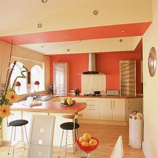 Colorful kitchen kitchen pinterest coral color for Great kitchen colors schemes