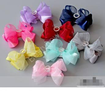 Baby Girl Shiny Bow Princess Hair Clip, 10pcs