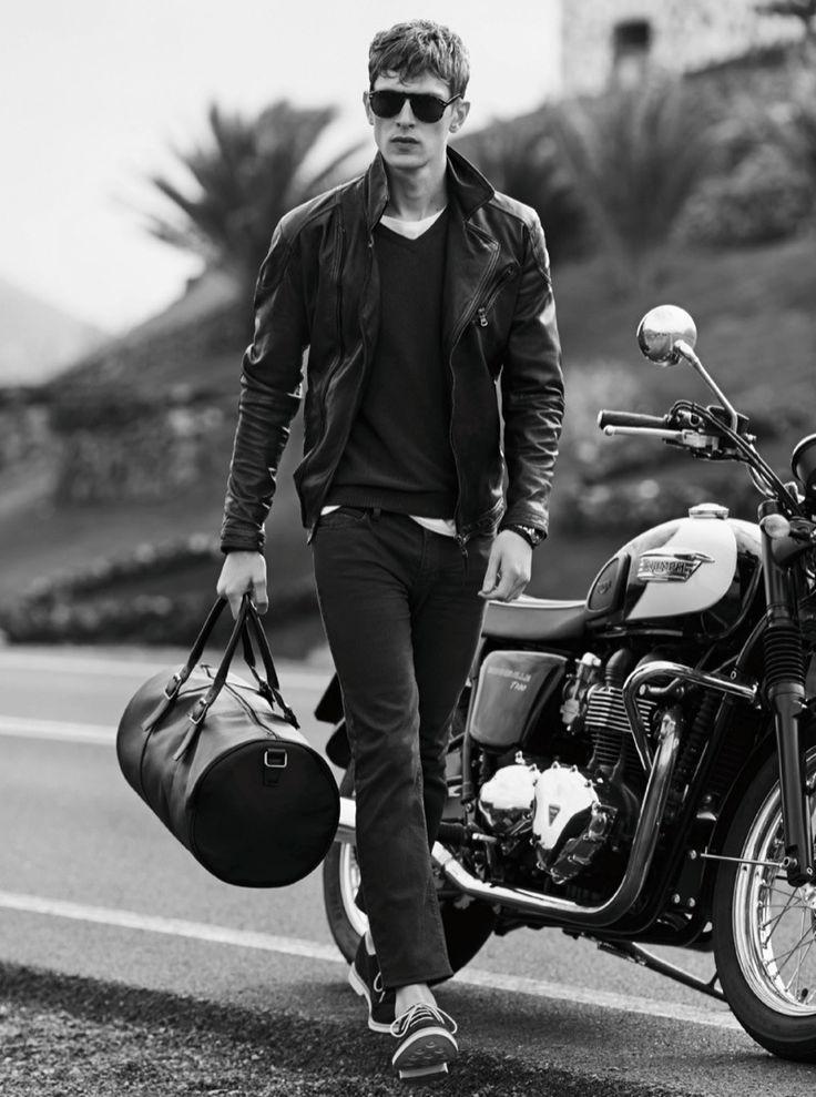 biker style // #motorcycle #leatherjacket #menswear