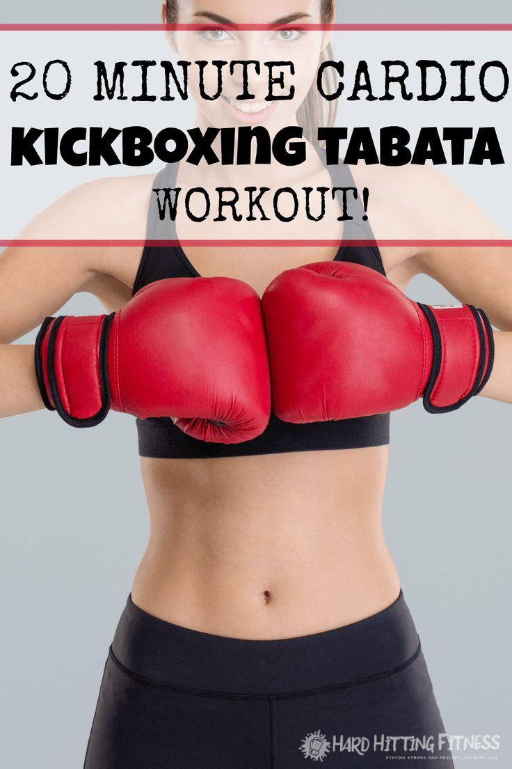 20 MINUTE CARDIO KICKBOXING TABATA WORKOUT!