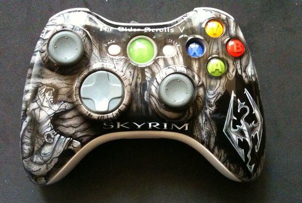Skyrim xbox 360 controller by ~chrisfurguson on deviantART