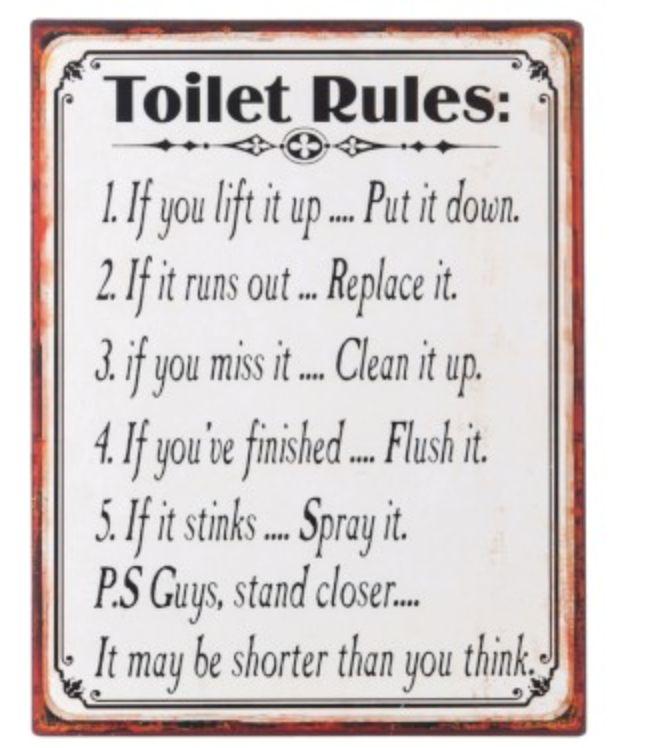J-line - Plakkaat - Toilet Rules