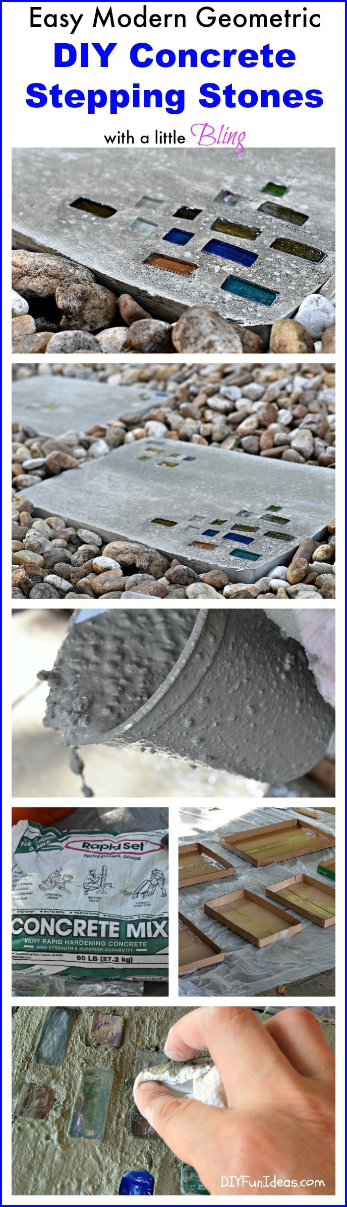 project stepping stone Cast an entire walkway of these stepping-stones using a variety of materials for the decorative textured concrete stepping-stones project overview skill.
