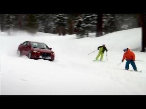 Evo versus Skiers - Top Gear USA - BBC