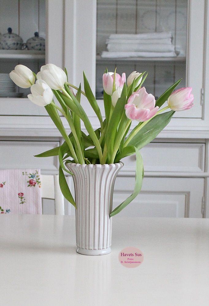 Eslau - Eslau vase - Retro - Havetssus - tulipaner - blomster - flowers - flower
