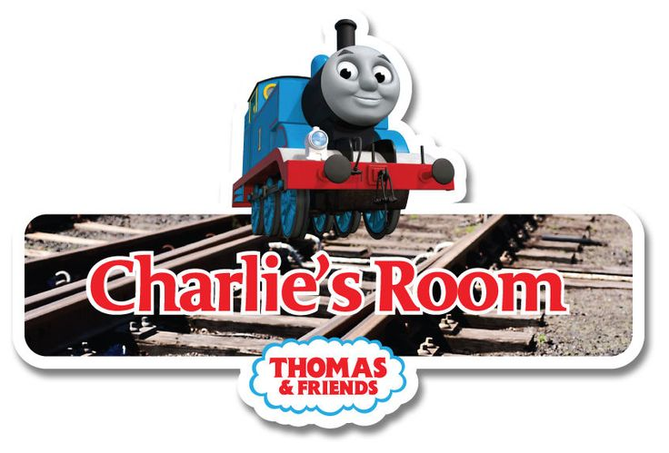 Thomas the Tank Engine Personalised Name Plate/Door Sticker