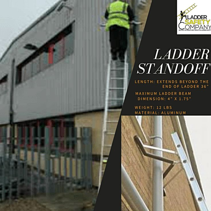 Enjoy #safety and confidence while using your ladder. This is the best built, and easiest to use ladder standoff available to #Contractors. #LadderSafety's Ladder Standoff incorporates a large 'V' in its design to span conduit and piping. The standoff also allows your ladder to rest on the corner of building or on a chimney.  #safetyfirst