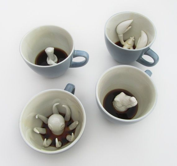 so sweetCoffe Cups, Teas, Mornings Coffee, Coffee Cups, Creatures Cups, Octopuses, Kitchens Tools, Coffee Mugs, Design