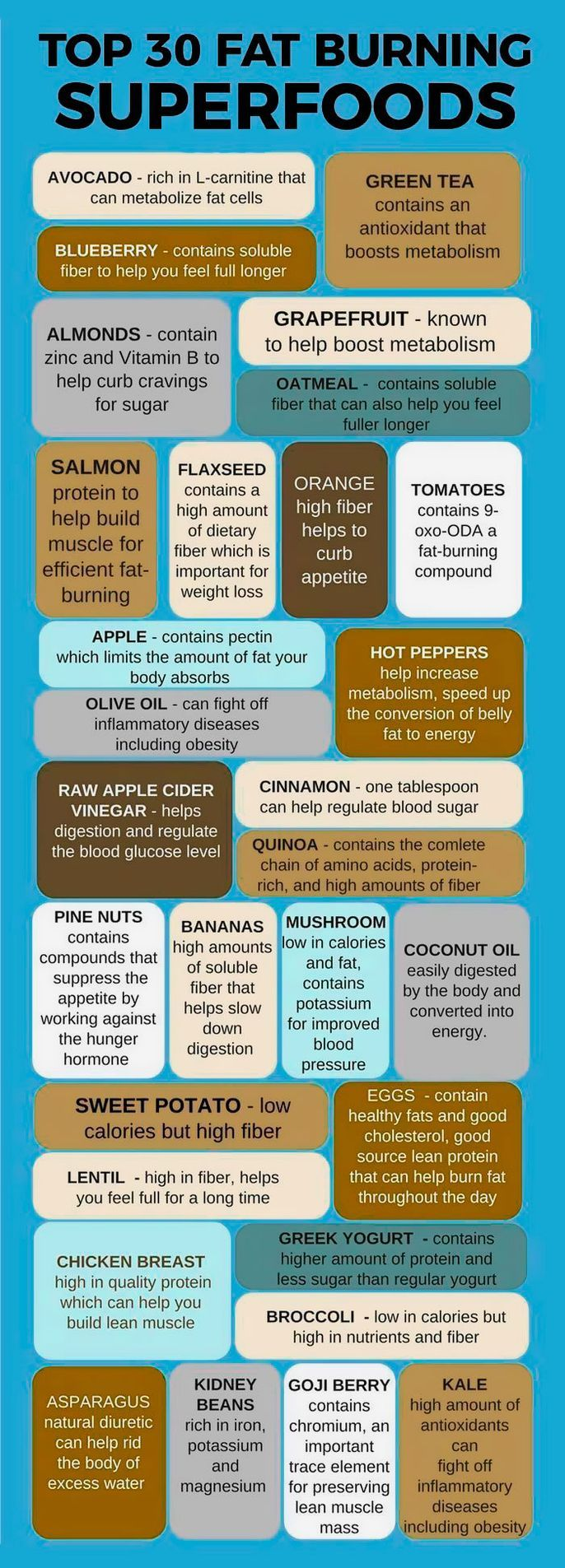 Top 30 fat-burning foods