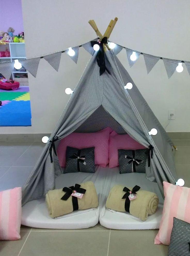 cabana/tenda infantil em tecido pied de poule