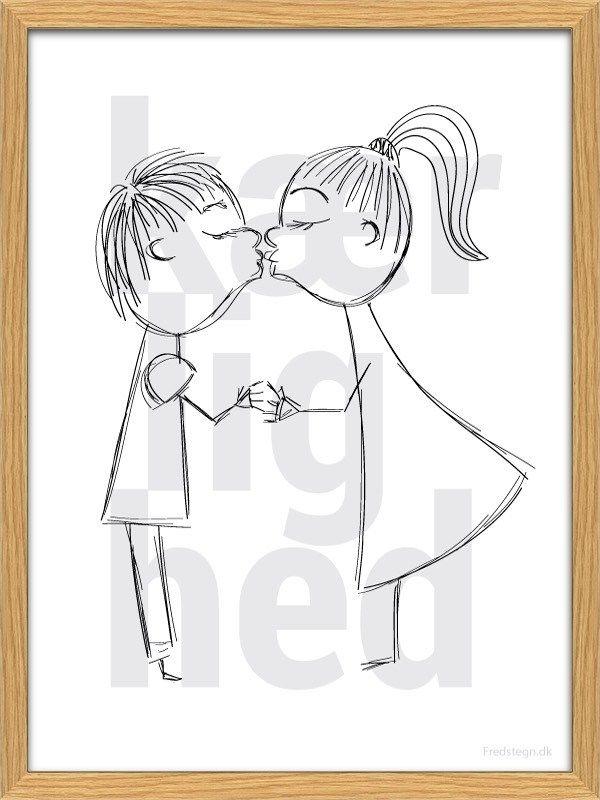 Kærlighed / Love A3 poster from Fredstegn