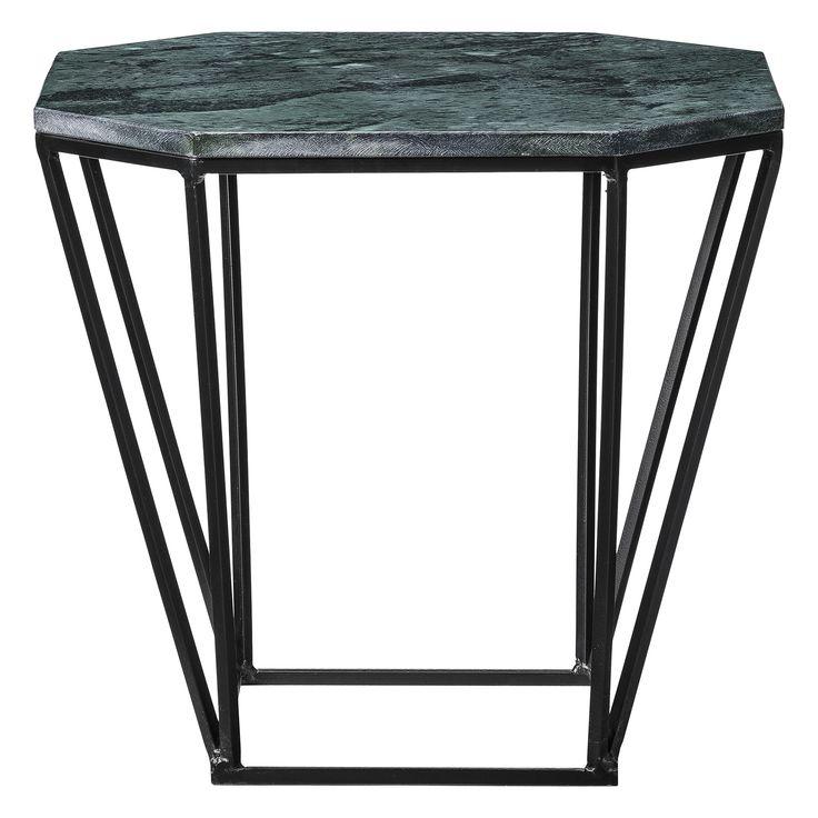 Klassisch in der Formsprache, edel im Material ist dieser Beistelltisch. Die grüne achteckige Marmorplatte wird von einem filigranem Metallgestell getragen. #Couchtisch #Tisch #Bloomingville #Nordischdesign #Impressionenversand