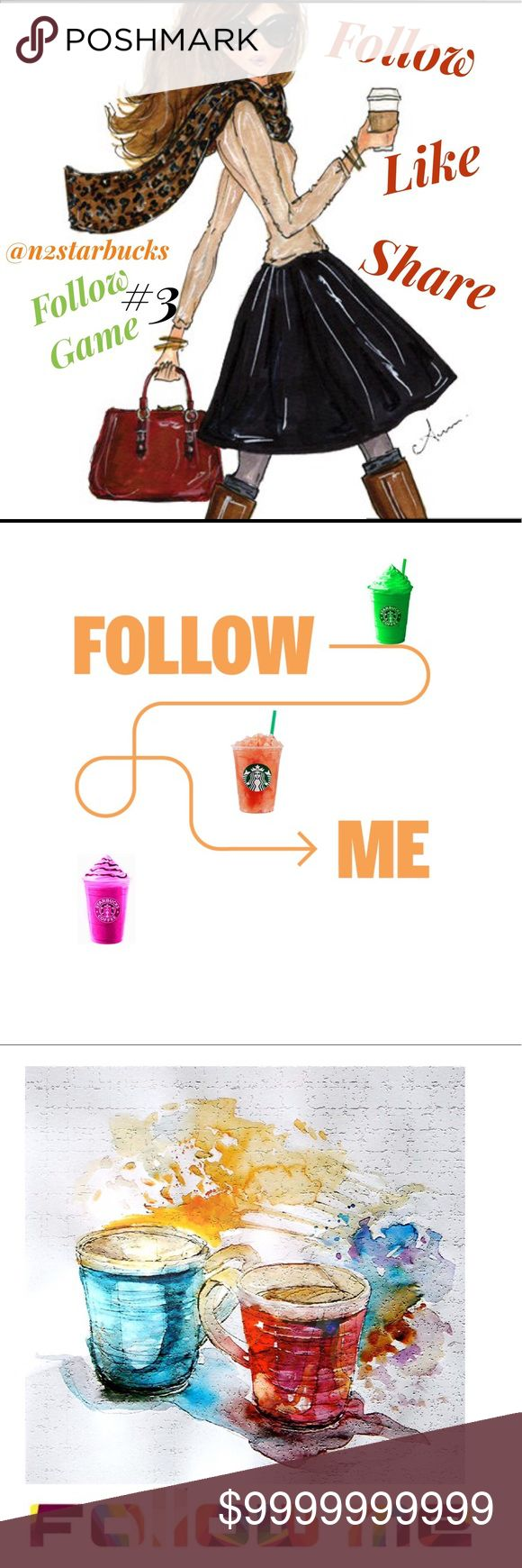 #3 FG! On the way to 50k!! 💚☕️🌸Lets Help Each Other🌸☕️💚  ☕️Like This Listing  ☕️Follow Me(I will follow you)   ☕️Follow everyone that likes this listing  ☕️Tag Some Friends  ☕️Share this listing  ☕️Don't forget to check back often for more Followers           🛍Happy Poshing🛍 Other