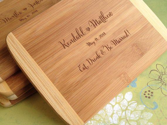 Engraved Wood Cutting Board Bridal Shower Gift Wedding Present Unique