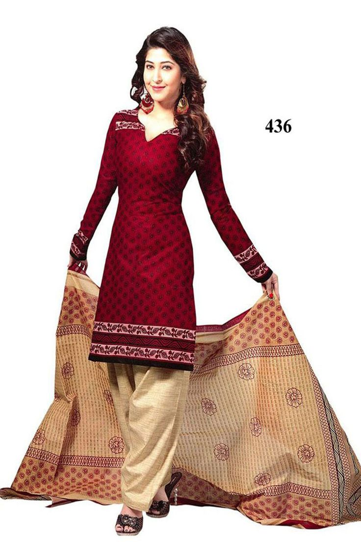 THAYARI.COM - Red In New Designer Dress Material
