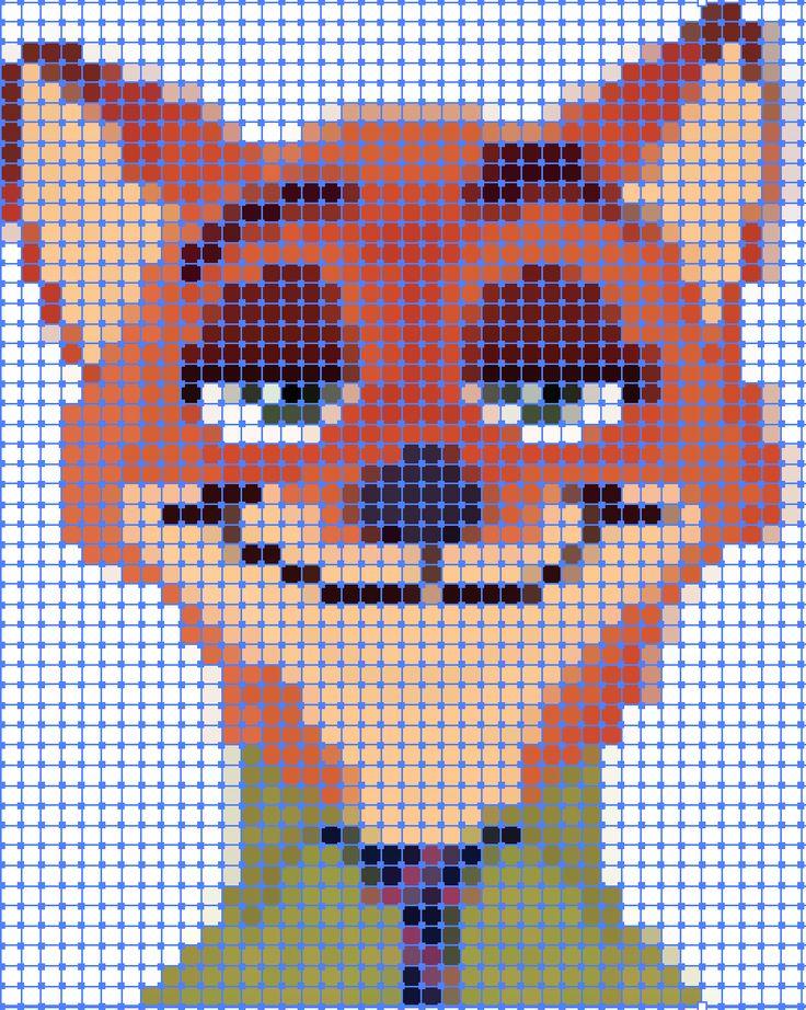 Zootopia Pixel quilt ideas.