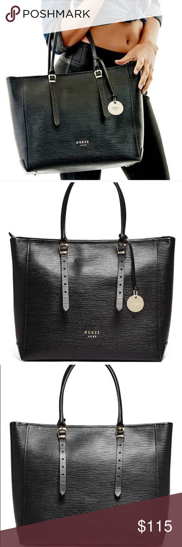 Guess Marciano Claudia luxe leather carryall bag Super luxurious, very gently used Guess by Marciano Bags Totes