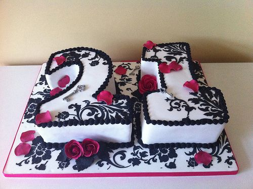 Cake Design Numbers : 21st number cake Inspiring Ideas Pinterest Other ...