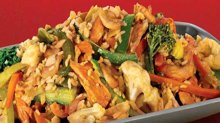 Kaitlyn's Easy Chicken and Rice Stir Fry (Penzeys Bangkok Blend)