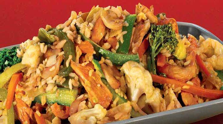 Kaitlyn's Easy Chicken and Rice Stir Fry (Penzeys Bangkok Blend)