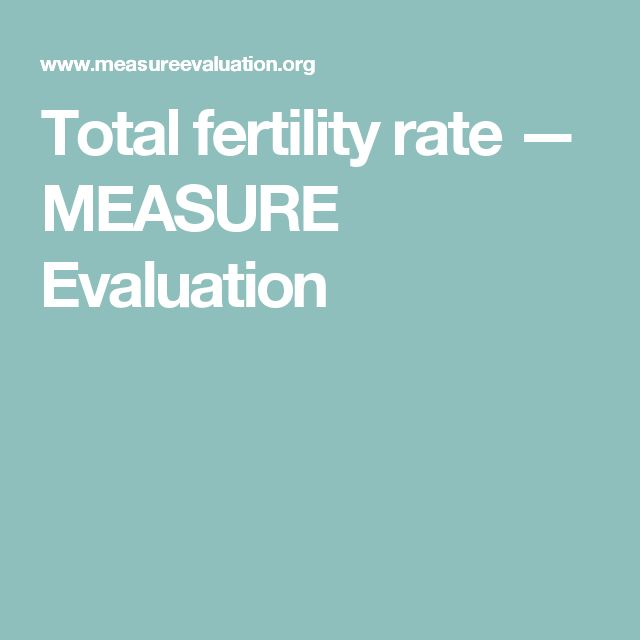 Total fertility rate — MEASURE Evaluation