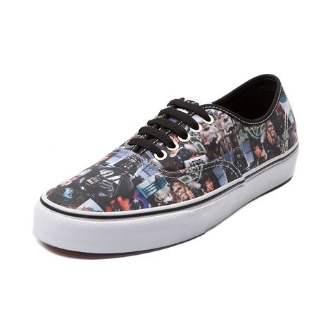 Shop for Vans Authentic Star Wars Film Authentic features a canvas upper printed with a variety of Star Wars film stills, including graphics of Darth Vader, Han Solo, Chewbacca, ...I bordered this pair for my son's birthday! They are on backorder, so he won't have them till June!