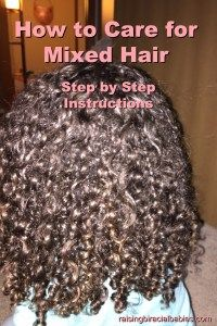 Mixed hair|How to care for mixed hair|biracial hair| biracial| curly hair| hair care