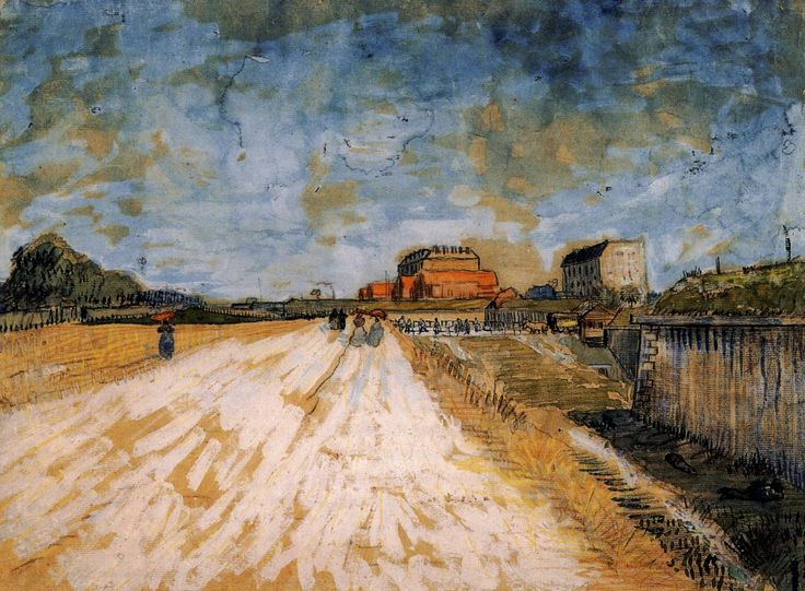 Road Running Beside The Paris Ramparts Vincent Van Gogh Van