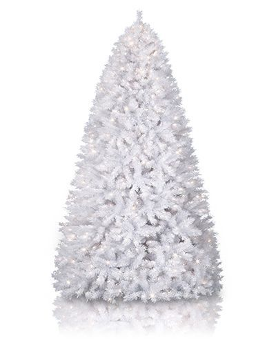 Winter White Artificial Christmas Tree #WhiteTree @Treetopia Artificial Christmas Trees
