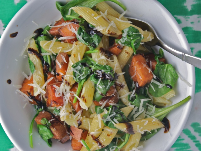 Balsamic Glazed Sweet Potato Pasta | Oodles of Noodles | Pinterest