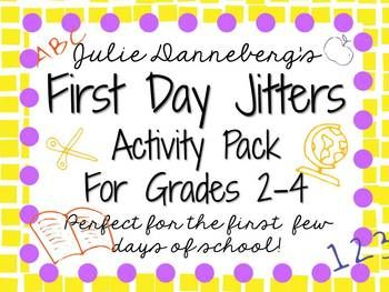 First+Day+Jitters?+Perfect+graphic+organizers+and+extension+activities+to+help+support+your+book+study+of+First+Day+Jitters+by+Julie+Danneberg.+Wonderful+resource+for+the+first+few+days+of+school!Inside+you+will+find:About+the+Author+Research+ActivityCharacters/Plot/Setting+Graphic+OrganizerCharacter/Character+Traits+Graphic+Organizer:+Sarah+Jane,+Mr.