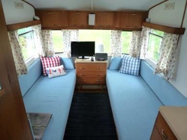 vintage caravan holiday
