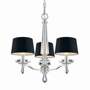 Hampton Bay Elora Collection 3 Light Chrome Chandelier With Black Shades