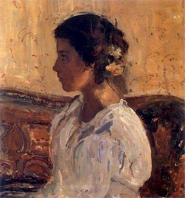 Portrait of Liza Pareńska ~ Witold Wojtkiewicz
