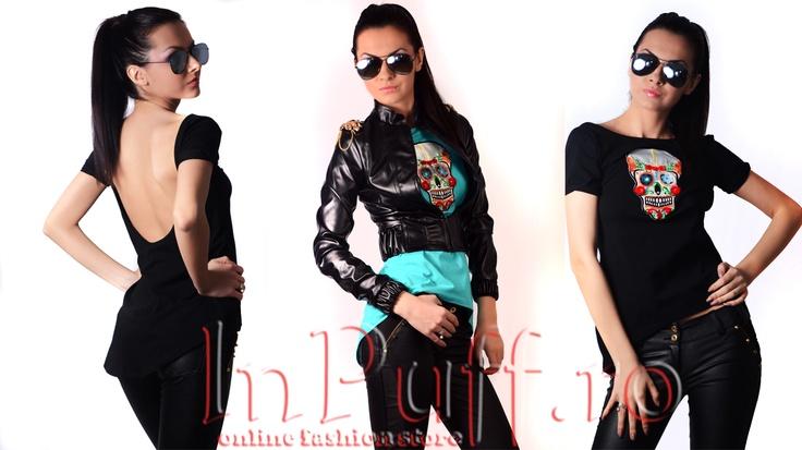 Black T-Shirt & Jacket
