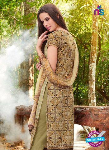 Teazle 2105 Green Color Cambric Cotton Designer Suit
